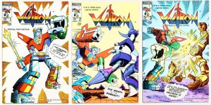 VOLTRON #1 #2 #3 Lot of 3 Modern Comics 1985 Full Run