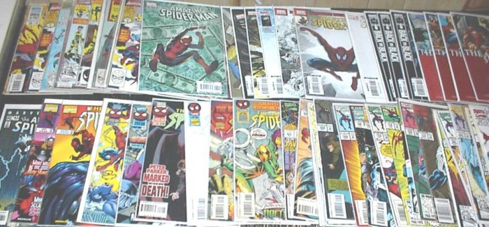 AMAZING SPIDER-MAN Lot of 53 Marvel Comics #340 - #595