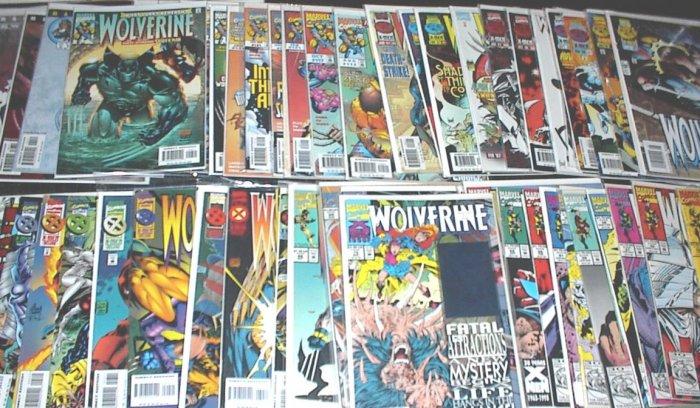 WOLVERINE lot of 57 Marvel Comics 1992 - 2003 X-Men