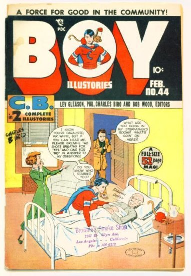BOY COMICS ILLUSTORIES #44 Lev Gleason 1949 Crimebuster