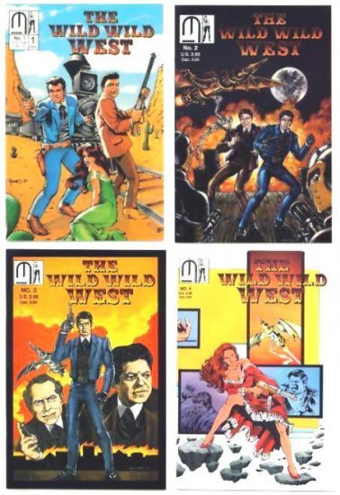 WILD WILD WEST Lot #1 - 4 Millennium Comics FULL RUN