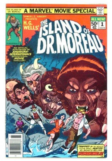 The ISLAND of Dr. MOREAU Marvel Movie Comics 1977 Very Fine