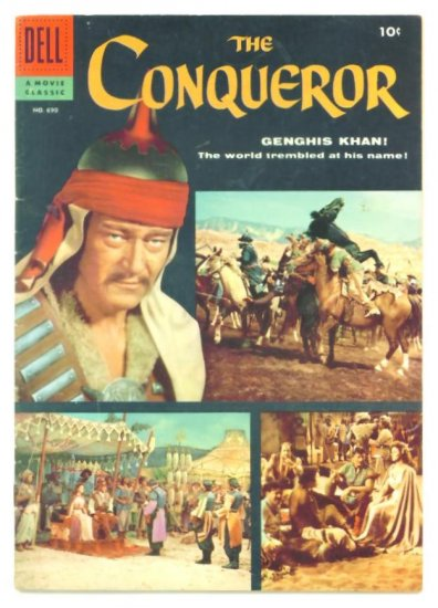 The CONQUEROR Dell Comics 1956 JOHN WAYNE PHOTO COVER