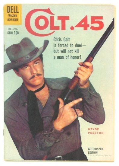 COLT 45 #4 Dell Comics 1960 Wayde Preston TV Western