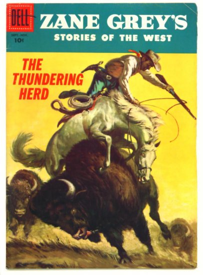 ZANE GREY'S STORIES of the WEST #31 Dell Comics 1956