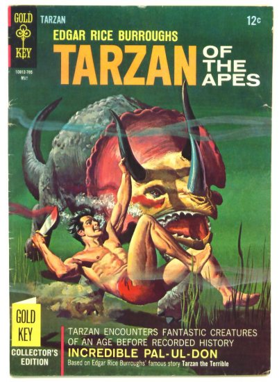 TARZAN #167 Gold Key Comics 1967 Dinosaur Cover