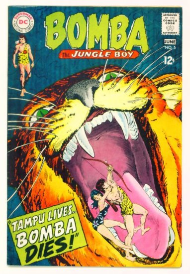 BOMBA The Jungle Boy #5 DC Comics 1968