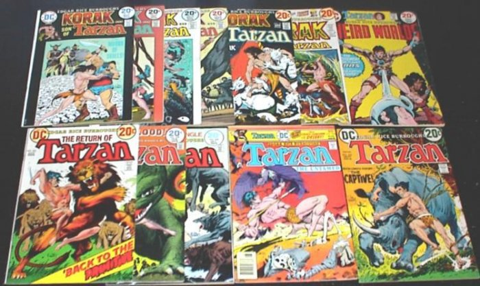 TARZAN and KORAK Lot of 12 DC Comics 1970's