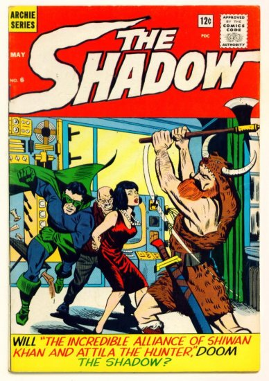 The SHADOW #6 Archie / Radio Comics 1965