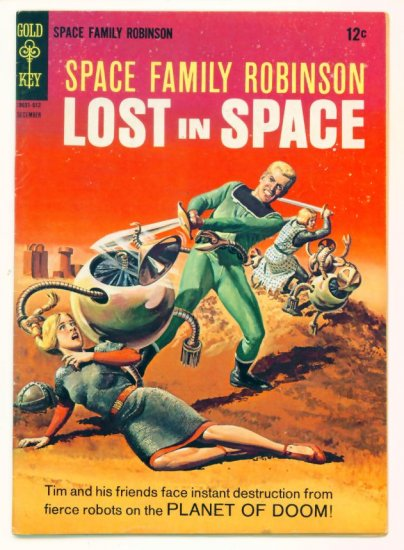 SPACE FAMILY ROBINSON #19 Gold Key Comics 1966 Lost in Space