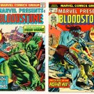 BLOODSTONE Marvel Presents #1 and #2 Marvel Comics 1975 Monster Hunter