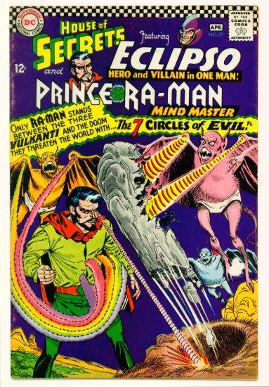 HOUSE of SECRETS #77 DC Comics 1966 Eclipso Ra-Man