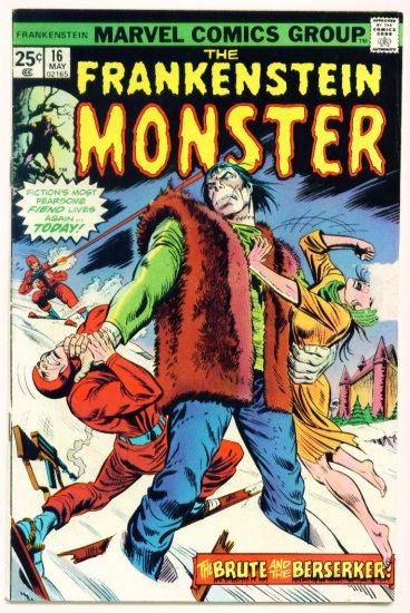 THE MONSTER OF FRANKENSTEIN #16 Marvel Comics 1975