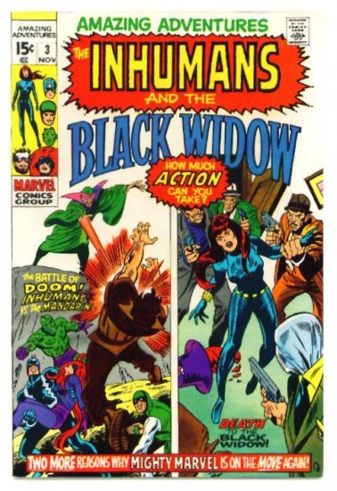 AMAZING ADVENTURES #3 Marvel Comics 1970 FN+ Inhumans
