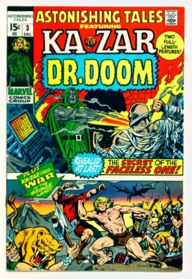 ASTONISHING TALES #3 Marvel Comics 1970 Doctor Doom