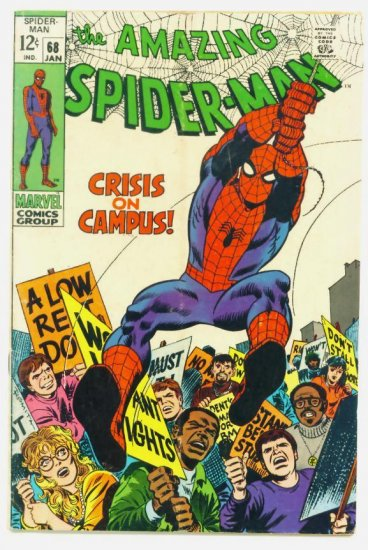 AMAZING SPIDER-MAN #68 Marvel Comics 1969