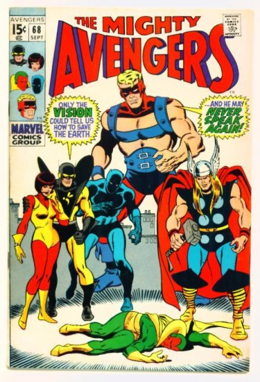 The AVENGERS #68 Marvel Comics 1969