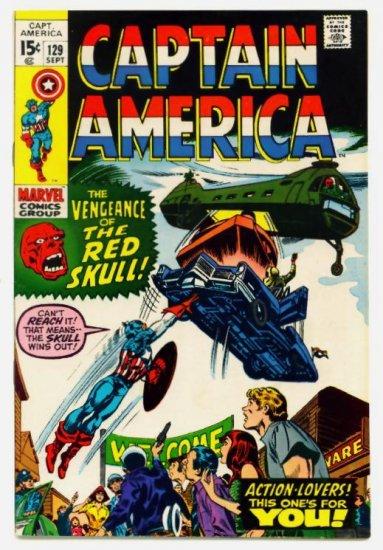 CAPTAIN AMERICA #129 Marvel Comics 1970 VERY FINE