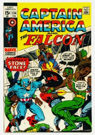 CAPTAIN AMERICA #134 Marvel Comics 1971 The Falcon