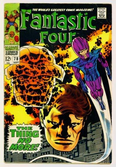 FANTASTIC FOUR #78 Marvel Comics 1968