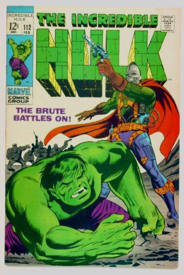 INCREDIBLE HULK #112 Marvel Comics 1969 FINE