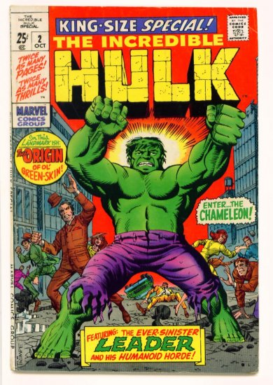 INCREDIBLE HULK KING SIZE SPECIAL #2 Marvel Comics 1969