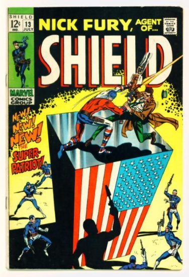 NICK FURY Agent of SHIELD #13 Marvel Comics 1969