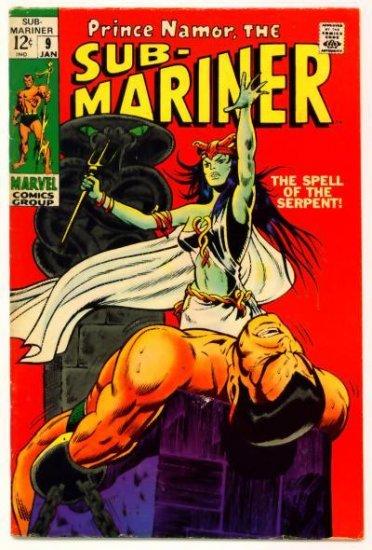 SUB-MARINER #9 Marvel Comics 1969 First Serpent Crown