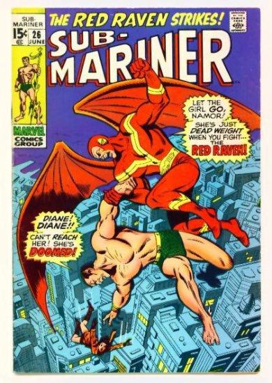 SUB-MARINER #26 Marvel Comics 1970 Red Raven