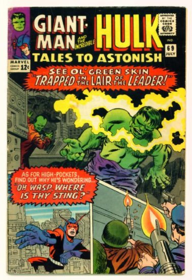 TALES to ASTONISH #69 Marvel Comics 1965 GIANT MAN
