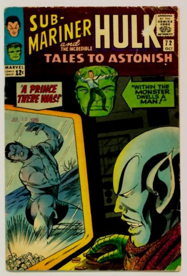 TALES to ASTONISH #72 Marvel Comics 1965 The Hulk