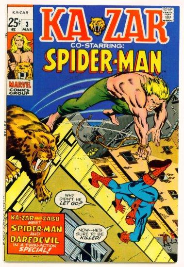 KA-ZAR #3 GIANT Marvel Comics 1971 SPIDER-MAN X-MEN