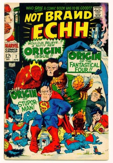 NOT BRAND ECHH #7 Marvel Comics 1968 Superman Parody