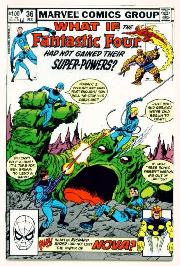 FANTASTIC FOUR WHAT IF ? #36 Marvel Comics 1982
