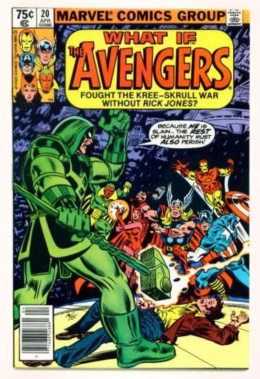 The AVENGERS WHAT IF ? #20 Marvel Comics 1980
