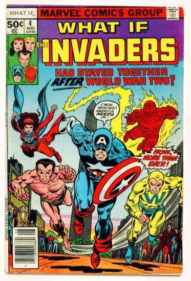 The INVADERS WHAT IF ? #4 Marvel Comics 1977