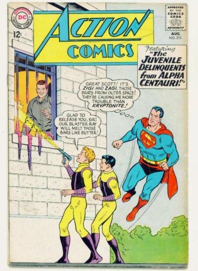 ACTION COMICS #315 DC 1964 Superman Supergirl