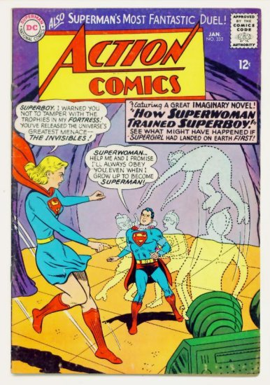 ACTION COMICS #332 DC 1966 Superman Superwoman