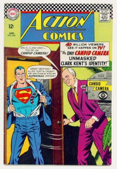 ACTION COMICS #345 DC 1967 Superman Allen Funt
