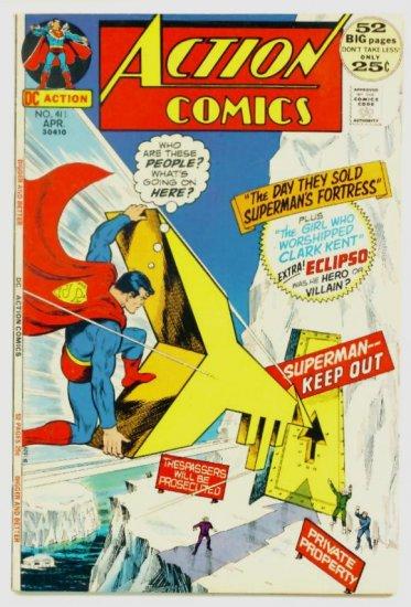 ACTION COMICS #411 DC 1972 GIANT Superman