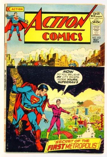 Superman ACTION COMICS #412 DC 1972 GIANT