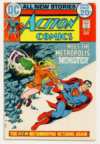 ACTION COMICS #415 DC 1972 Superman Metamorpho