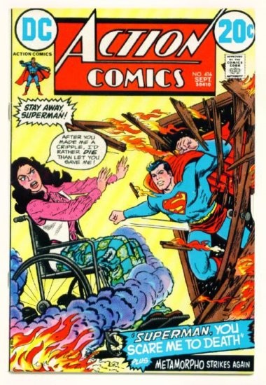 ACTION COMICS #416 DC 1972 Superman Metamorpho
