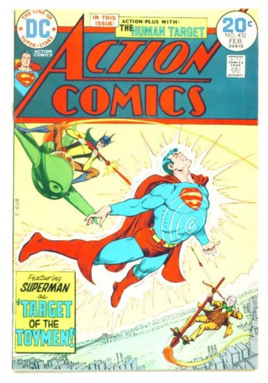 ACTION COMICS #432 DC 1974 First Bronze Appearance of TOYMAN