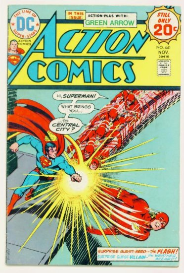 ACTION COMICS #441 DC 1974 Superman Flash Green Arrow