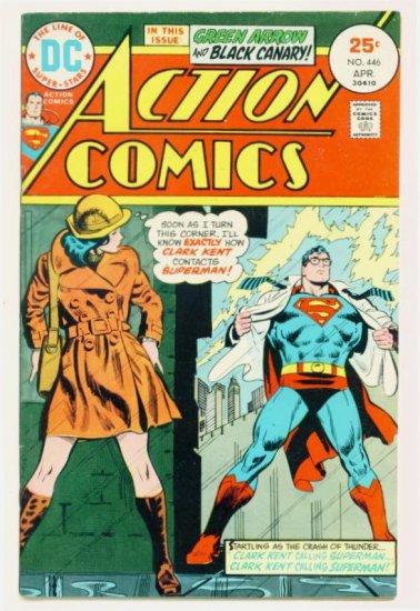 ACTION COMICS #446 DC 1975 Superman Green Arrow