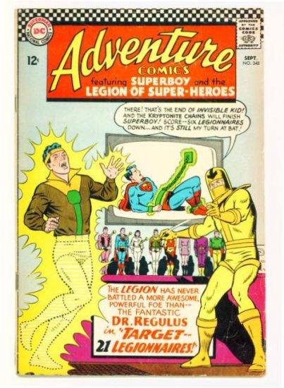 ADVENTURE COMICS #348 DC 1966 Legion of Super-Heroes