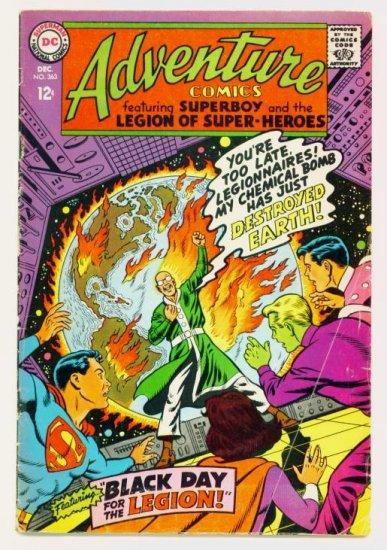 ADVENTURE COMICS #363 DC 1967 Legion of Super-Heroes