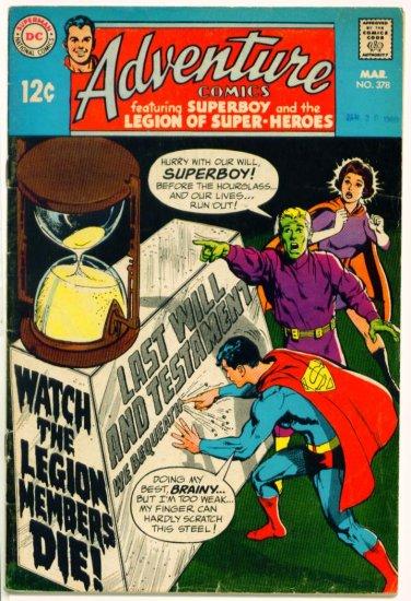 ADVENTURE COMICS #378 DC 1969 Legion of Super-Heroes