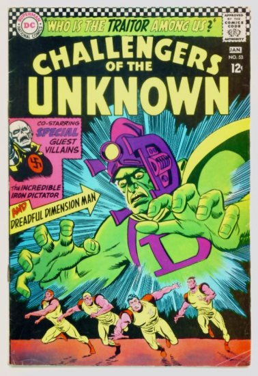 CHALLENGERS of the UNKNOWN #53 DC Comics 1967